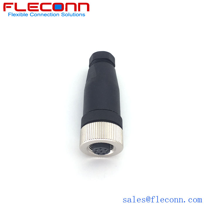 M12 8-pin female Connector n the company of FLECONN China