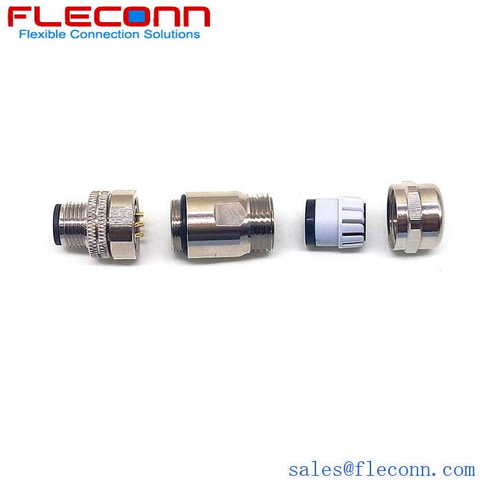 M12 D-code 4 Pos connector straight plug with PG9 cable outlet.jpg